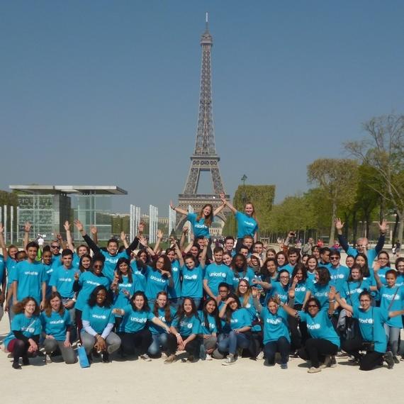 Les étudiants parisiens avec UNICEF pour la défense des droits des enfants dans le monde