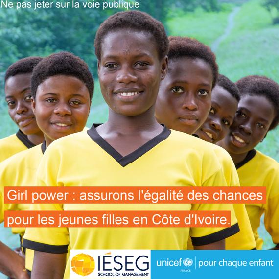Girl Power en Côte d'ivoire : améliorons l'égalité des chances des jeunes filles