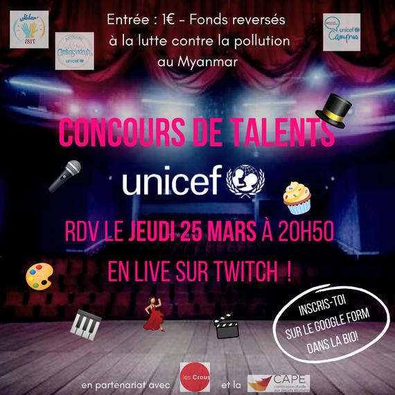 Concours de talents UNICEF 2021