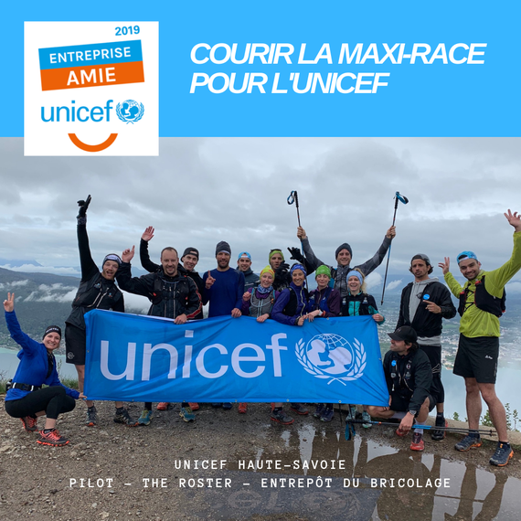 Courir la Maxi-Race pour l'UNICEF