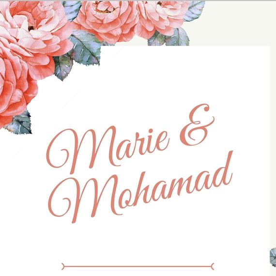 Mariage de Marie et Mohamad